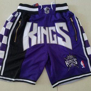 Just Don Sacramento Kings basketball Shorts NEW